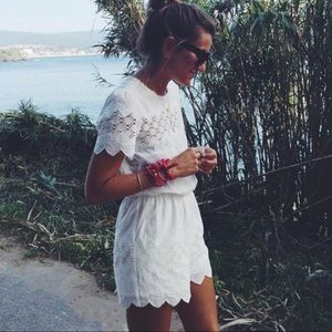 HARLYN White Lace Romper